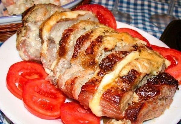 мясо запечённое с сыром