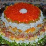 слоёный салат жемчужина