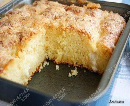Безумно вкусный и простой сахарный пирог