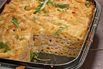 Макаронная запеканка — идеальное блюдо для ужина.