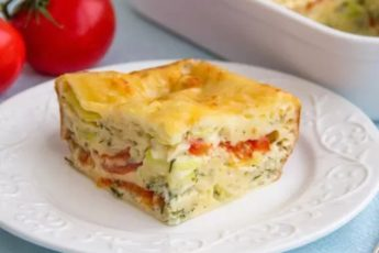 Пирог с овощами и сыром