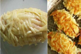 Сочная, ароматная начинка и невероятно хрустящая картофельная