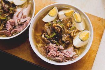 Очень простой и вкусный японский суп – Рамен. Внук ест так, что за ушами трещит!
